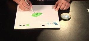 Paint a leaf tree with oil paints