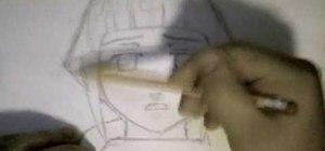Draw Hinata from Naruto