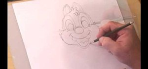 Draw cartoon character Dale from Chip & Dale's