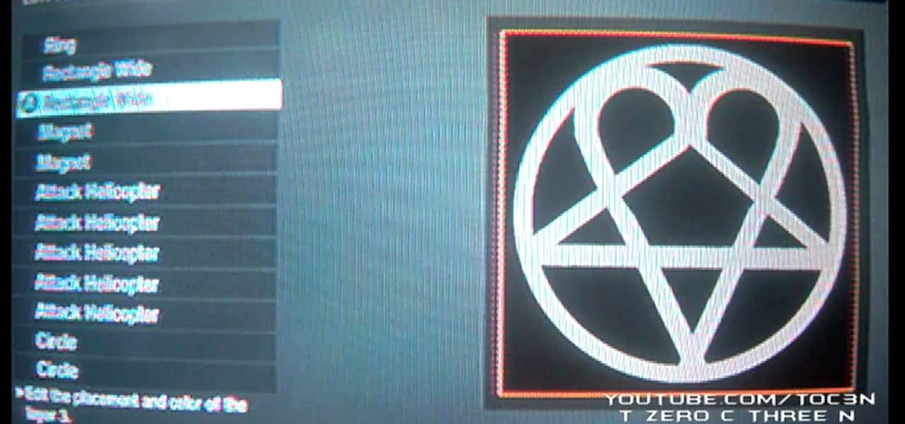 How to Make a HIM logo Call of Duty Black Ops emblem ...