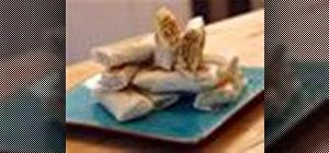 Make spring rolls with ground pork
