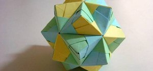 Make a small paper triambic icosahedron with origami