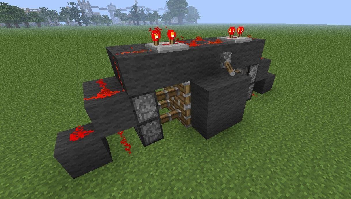How to create the most compact 2x2 hidden piston door in for 10 ways to make a secret door in minecraft