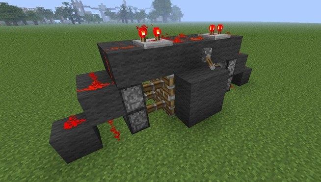 Piston Door 2x2 2x2 Hidden Piston Door in