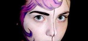 Create a comic book girl inspired makeup look