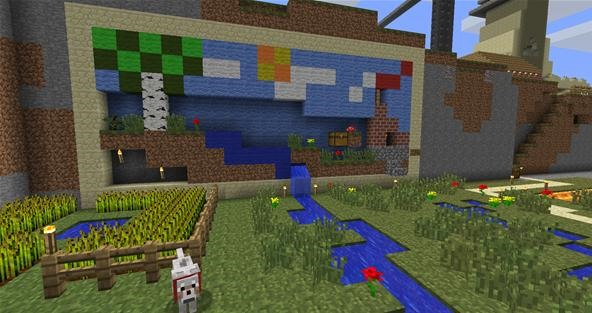 how to build a garden on minecraft