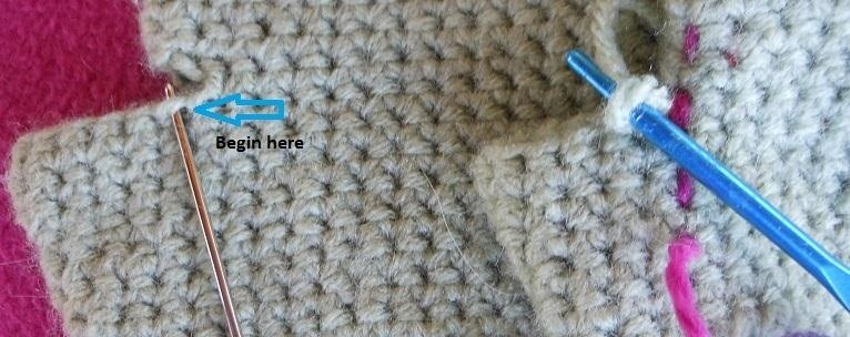 How to Make Simple Mittens in Single Crochet