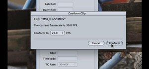 Conform individual clips to 24 or 25 fps Final Cut Pro