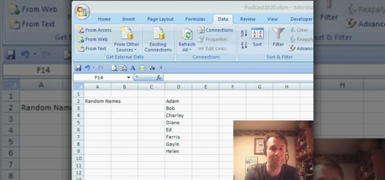 How to Randomly select a name from a list in Microsoft Excel