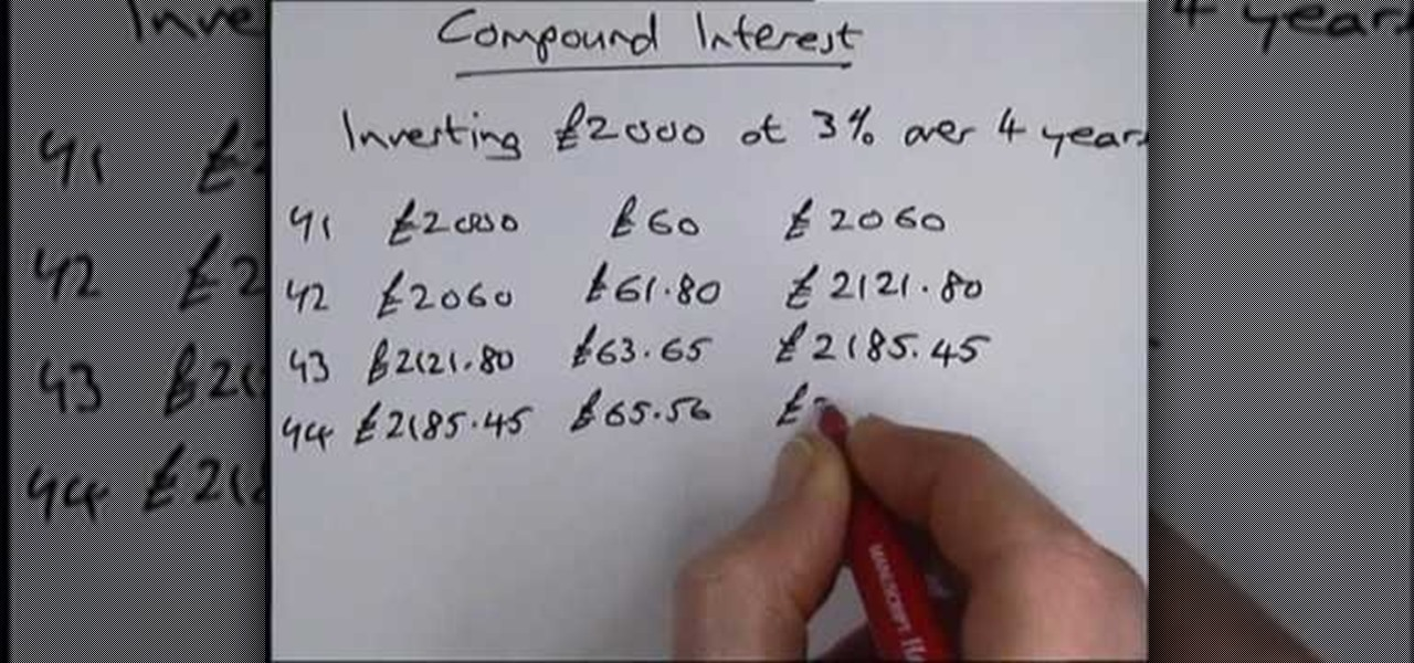 how to find rate in compound interest