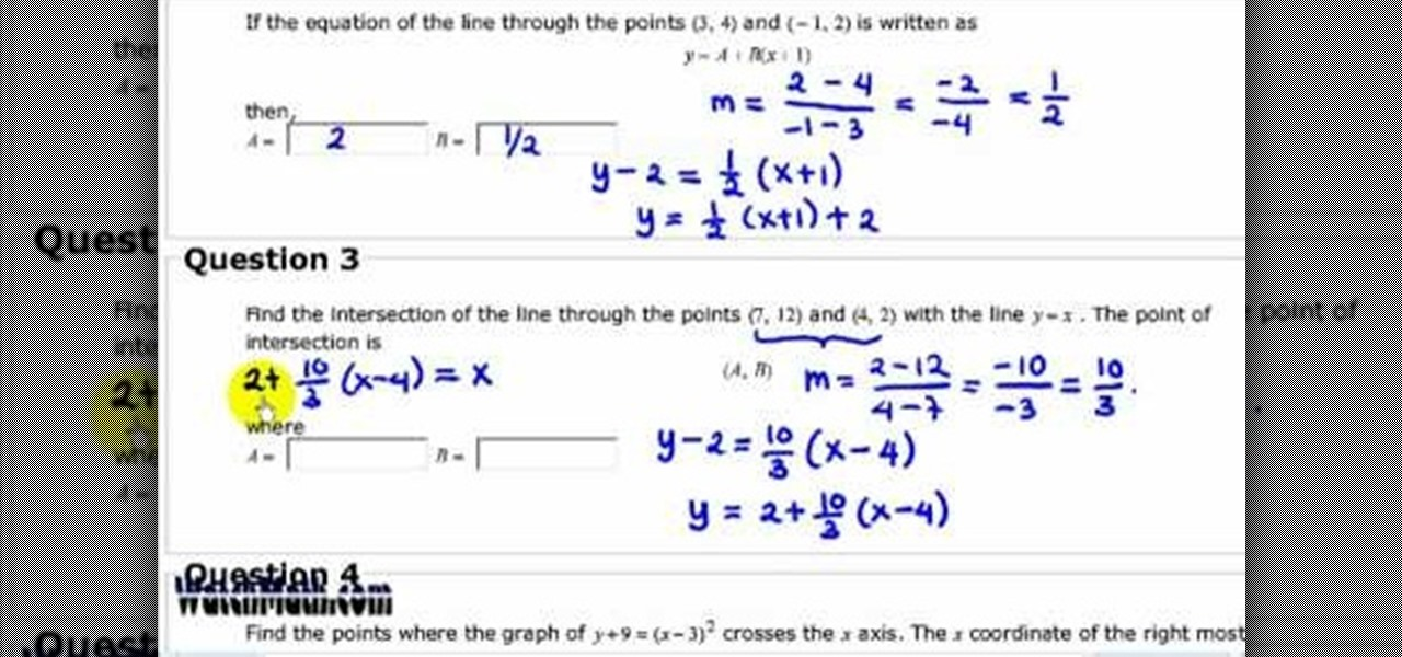 How to Solve problems about linear equation « Math