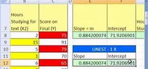 Do multiple regression with MS Excel's LINEST function