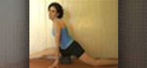 Do the splits using the yoga Monkey pose