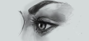 Draw an eye from a side view