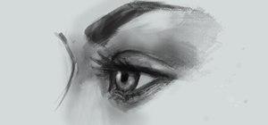 draw eye side view  female Woman Side Profile Drawing
