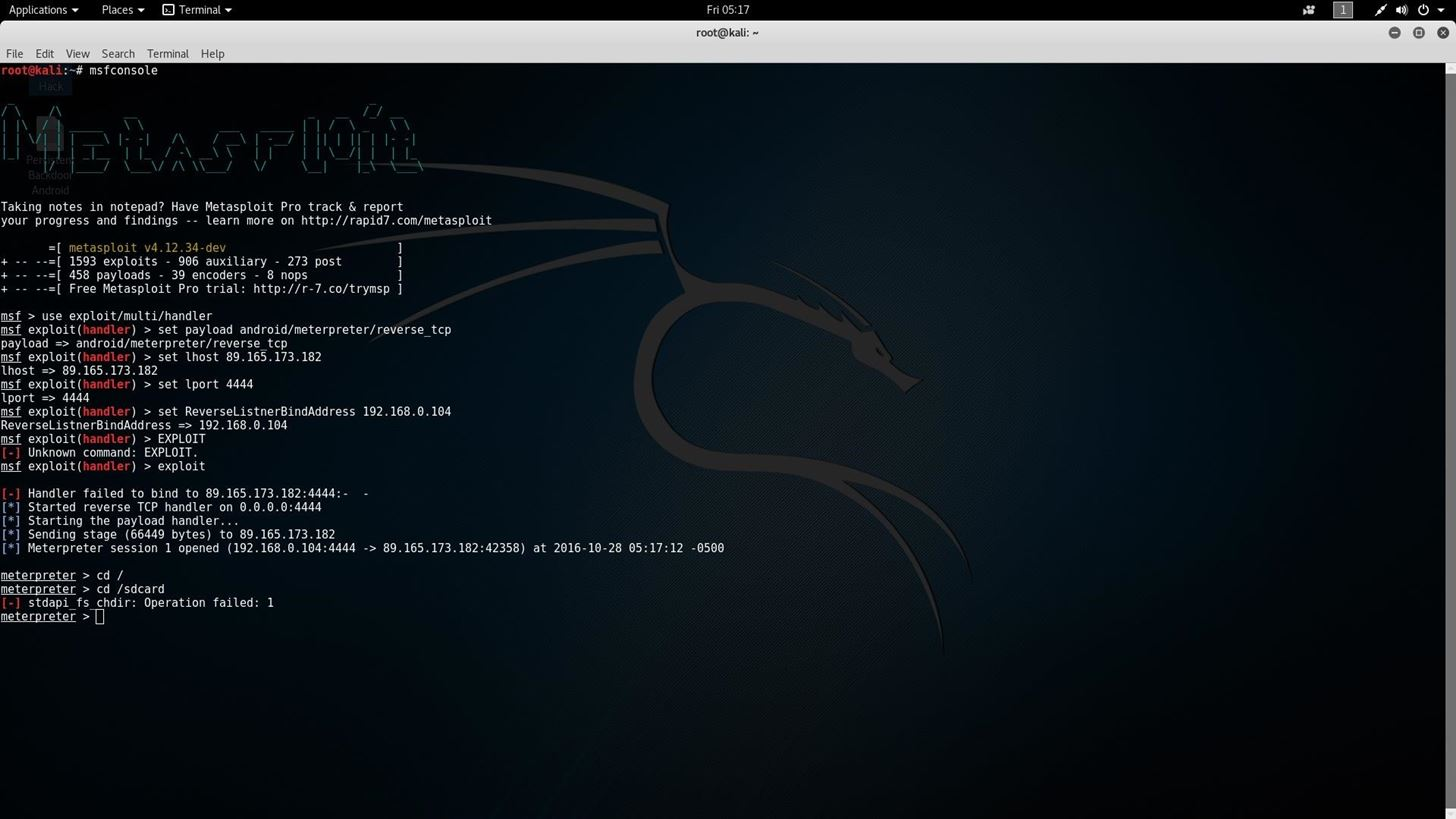 How to Create a Persistent Back Door in Android Using Kali Linux