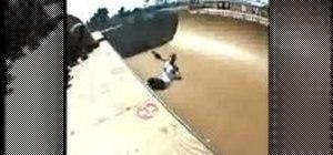 Do a Smith Grind and a Backside Ollie on a skateboard