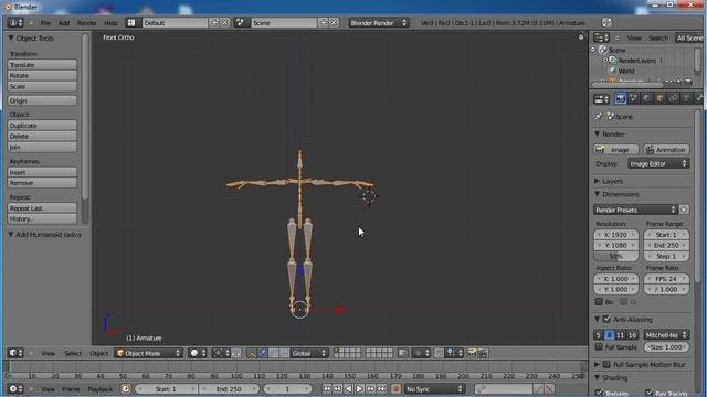 Create and use the Human Meta-Rig tool in Blender 2.5