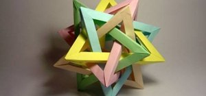 Create a tetrahedra origami with five intersections