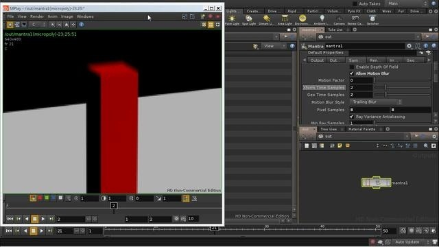 Create a motion blur effect in Houdini 10 - Part 1 of 2