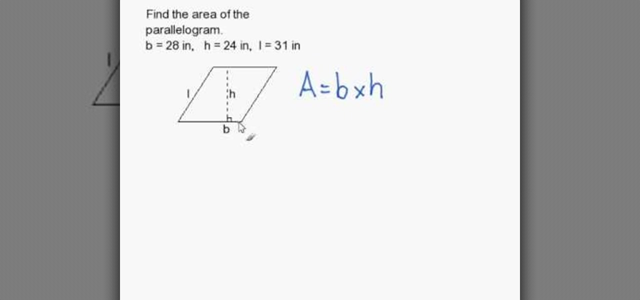 How to Calculate the area of a parallelogram « Math