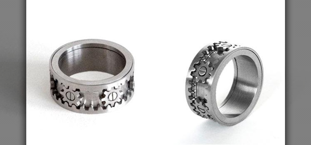 Rings with Moving Gears Are Perfect for the Steampunk in Your Life