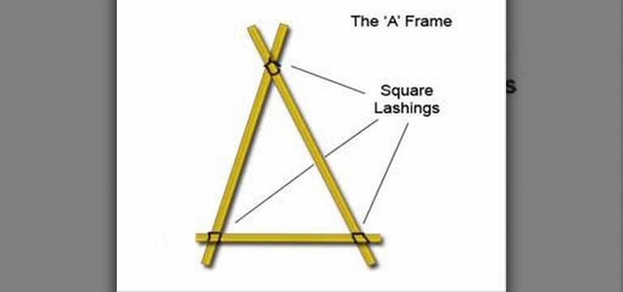 how to make an a frame for scout engineering survival training