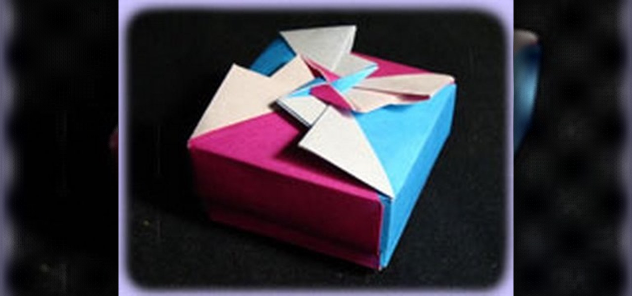 How To Make An Origami Flower Box