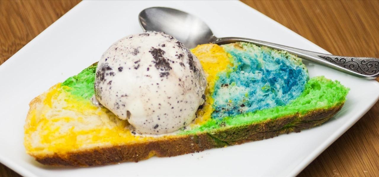 Make Super Colorful Bread for One-of-a-Kind Ice Cream Sandwiches
