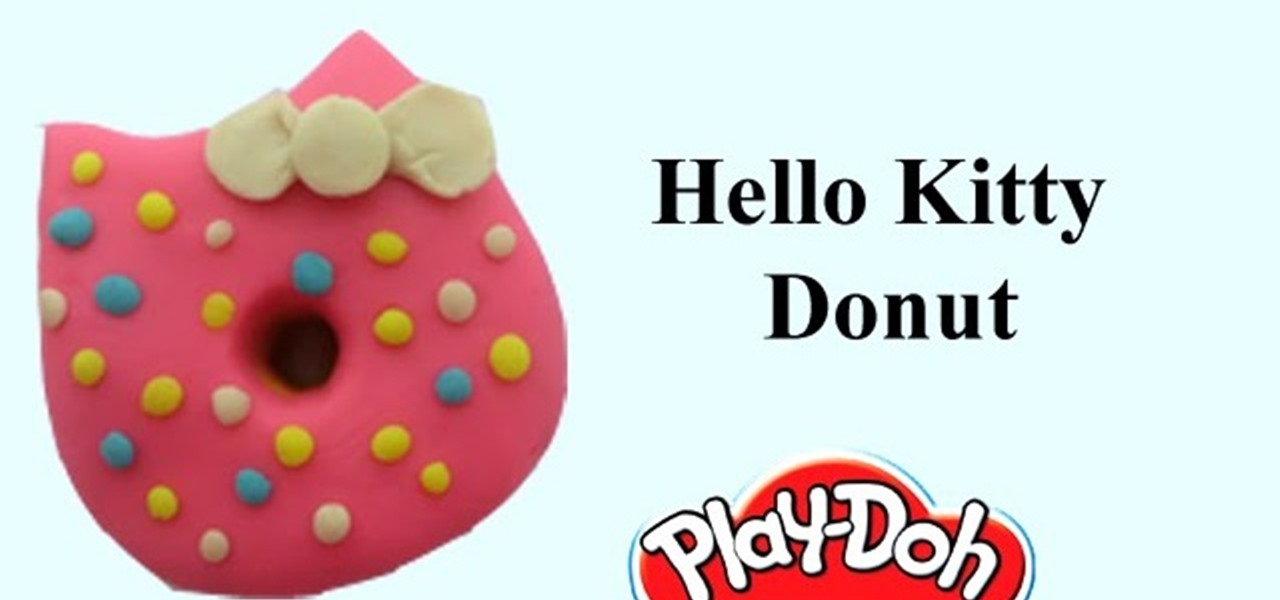 Make Playdoh Hello Kitty Donuts with Play-Doh