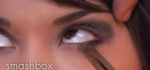 Create a metallic smoky eye
