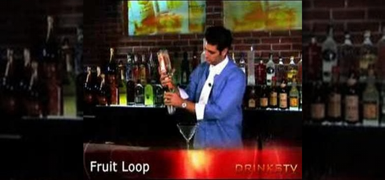 How to Mix the Fruit Loop martini cocktail « Specialty Drinks