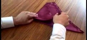 Fold a Pocket Square with a handkerchief