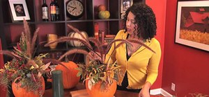 Create an easy pumpkin centerpiece for Thanksgiving