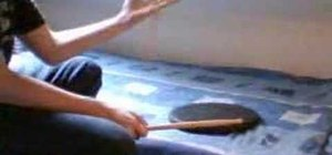 Practice snare drum stick trick