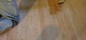 Sand and save a wood floor