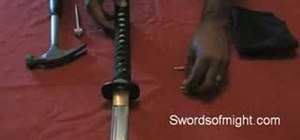 how to make a samurai sword out of cardboard