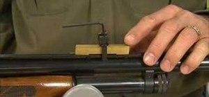 Remove a dent from a damaged shotgun rib