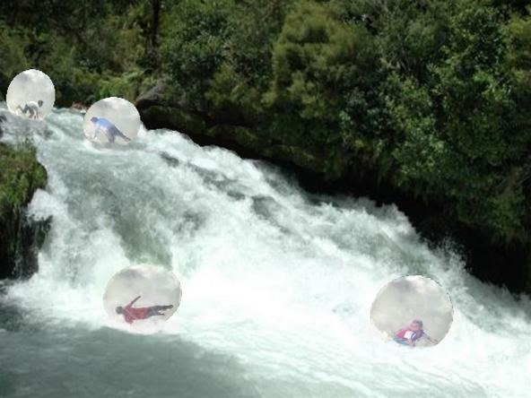 Rapids Bubble race