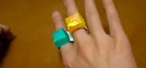 Make an origami ring