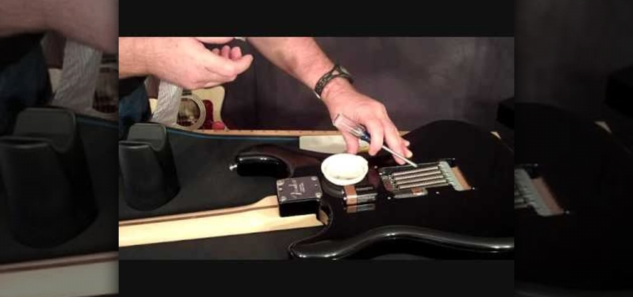 how to change the actives pickups battery on a guitar electric guitar wonderhowto. Black Bedroom Furniture Sets. Home Design Ideas