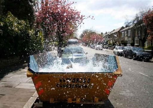 Transform Dirty Dumpster Into a Swimming Pool