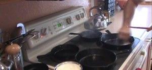 Prepare a cast iron skillet