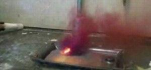 Make an aluminum iodine volcano