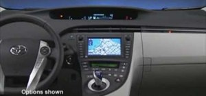 Read the information displays inside a 2010 Toyota Prius