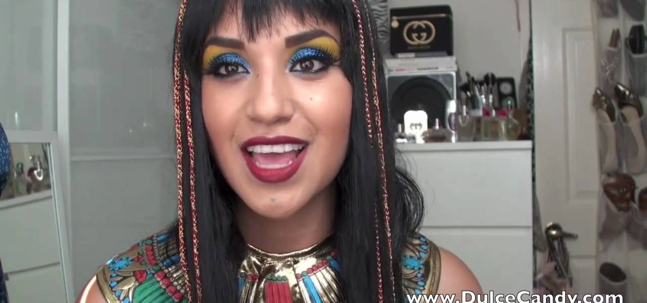 How to Create a colorful Queen Cleopatra look for Halloween « Makeup