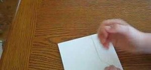 Make a paper wallet with printer paper