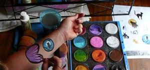 Mix face paints with water