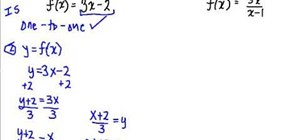 Find the inverse of a function in algebra