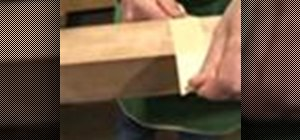Use a band saw to cut a tapered leg